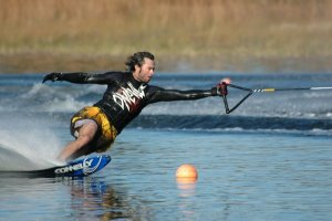 Wade Williams Offside Turn, Slalom Water Skiing