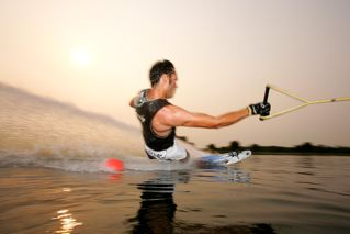 coaching, instruction, water ski slalom course